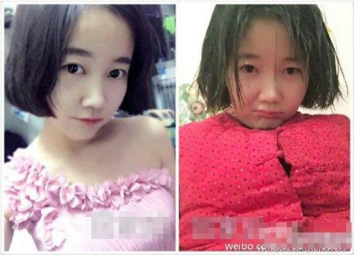 Cô gái với hình ảnh lung linh trong cuộc sống nơi thành thị (trái) và giản dị khi trở về bên gia đình ăn Tết.