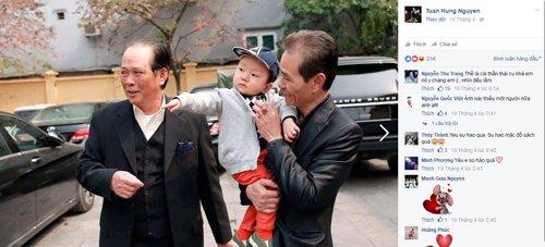 Ảnh Su hào chụp cùng ông cũng nhận được chú ý lớn với nhiều lời chúc khen ngợi.