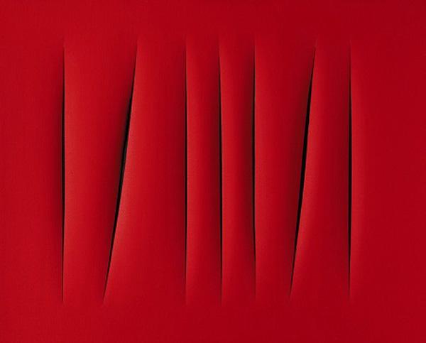 Bức Ý niệm không gian, chờ đợi của họa sĩ người Ý - Lucio Fontana được bán với giá 1,5 triệu USD (khoảng 33 tỉ VND) vào khoảng năm 2008. Bức vẽ được xếp vào thể loại nghệ thuật slash painting - vẽ dựa vào màu sắc duy nhất và tạo đường rạch trên mặt tranh.