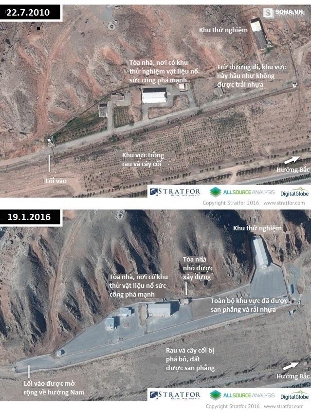 Sự thay đổi tại khu vực thử vật liệu nổ ở Parchin