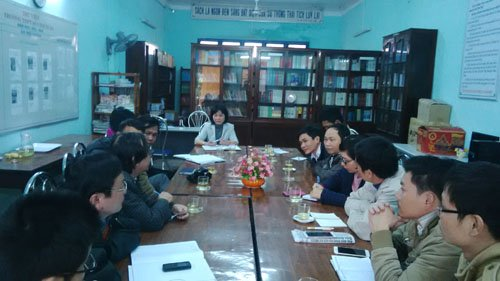 Bà Phạm Thị Ngọc Tâm tại buổi trao đổi với các PV vào sáng 19.2. Ảnh: An Sơn.