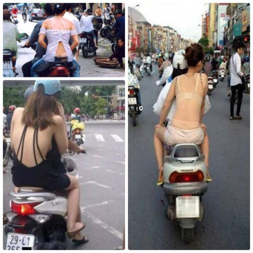 Những kiểu ăn mặc của giới trẻ khiến người đi đường nóng mắt (Ảnh/Nguồn: Internet)