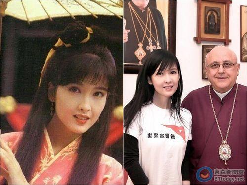 Châu Huệ Mẫn của 20 năm trước và hiện tại.