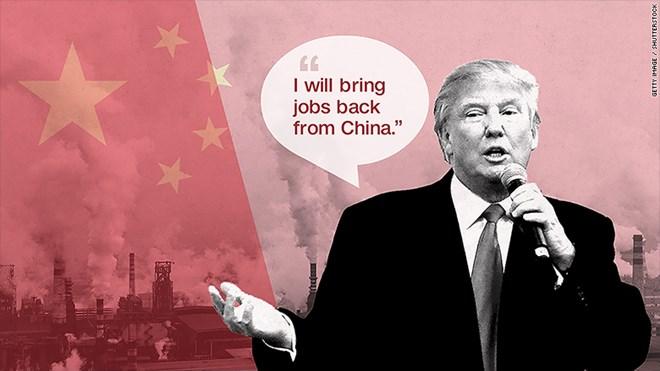 Ông Trump thường cáo buộc Trung Quốc đánh cắp việc làm của Mỹ .