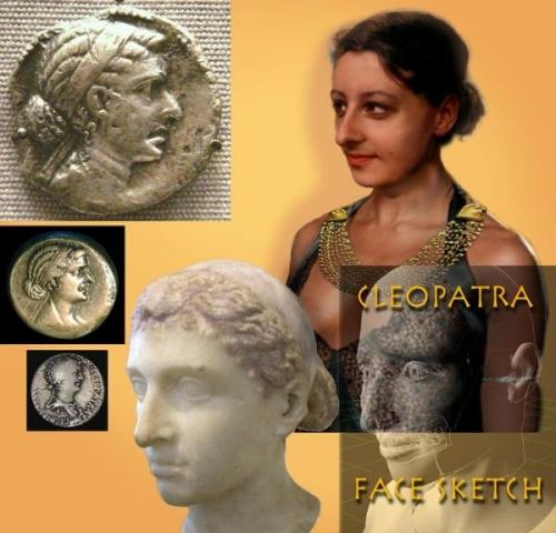 Khuôn mặt của Nữ hoàng Ai Cập được tái hiện dựa vào đồng xu cổ. Ảnh: Cart Wheel
