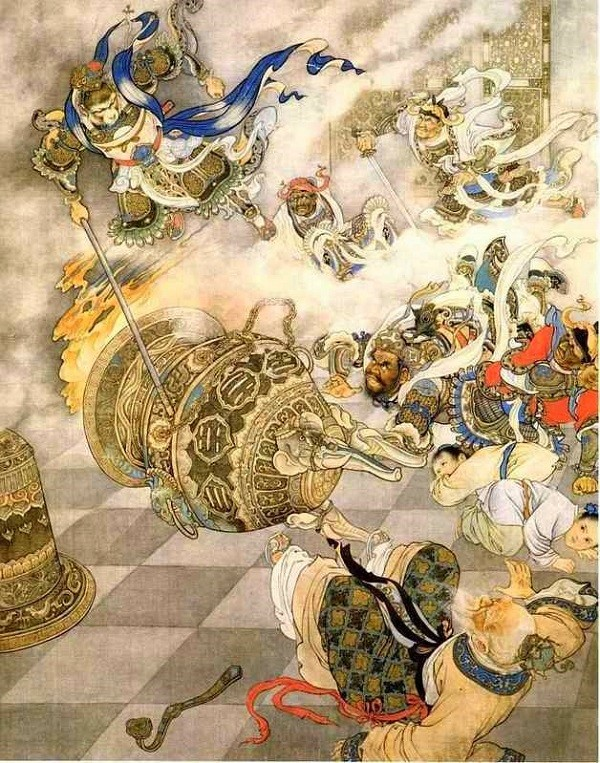 Đánh đổ lò bát quái của Thái Thượng Lão Quân.