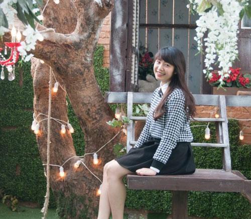 Hoài Thương ngoài đời là cô gái xinh đẹp, dễ mến. (Ảnh: NVCC)