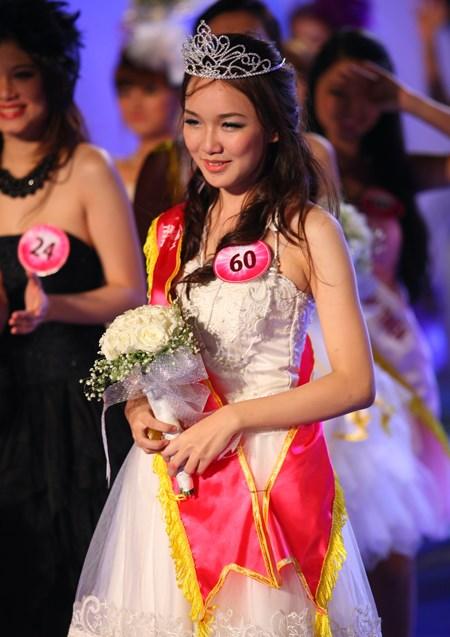 Thảo My khi đăng quang Miss Teen 2011.