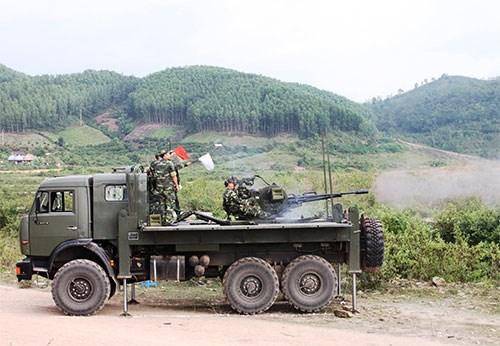 Pháo ZU-23-2M do Viện Kỹ thuật cơ giới quân sự (Tổng cục Kỹ thuật) chế tạo.