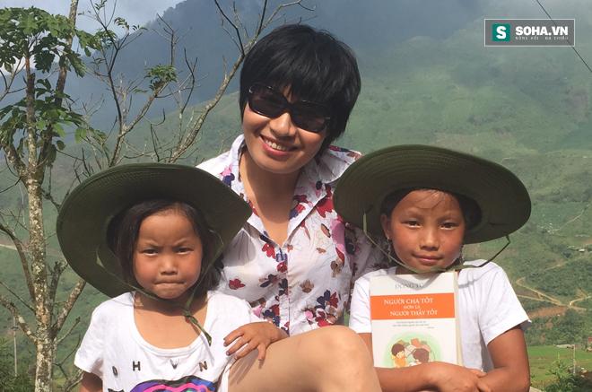 Nhà báo Thu Trang là người nặng lòng với trẻ em nghèo miền núi (Ảnh nhân vật cung cấp)