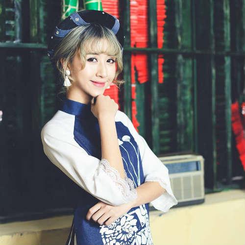 Quỳnh Anh Shyn rạng rỡ trong tài áo dài ngày xuân