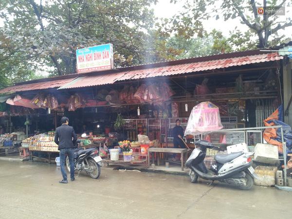 Quầy hàng nơi xảy ra xô xát giữa Linh Miu và chủ quán.