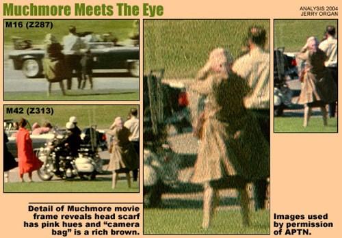 Một người phụ nữ bí ẩn mặc một áo khoác màu nâu và có quấn khăn choàng đầu babushka xuất hiện tại hiện trường vụ ám sát Tổng thống Mỹ John F. Kennedy hồi năm 1963