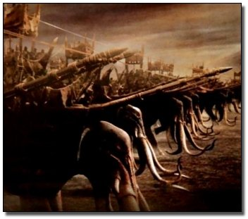 Đội quân voi khiến mọi đội quân đều kiêng dè.