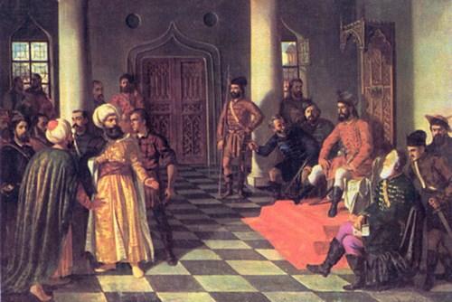 Vlad đệ tam và sứ thần Ottoman.