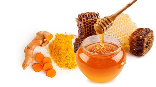 Nghệ và mật ong là một trong những Bài thuốc chữa loét miệng hiệu quả