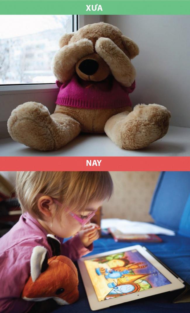 Tuổi thơ của những đứa trẻ đã thay đổi đáng kể.