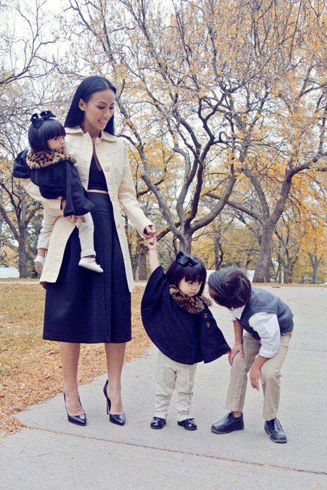 Nhiều khán giả không khỏi bất ngờ khi biết Huyền Ny đã là bà mẹ của 3 con nhỏ.