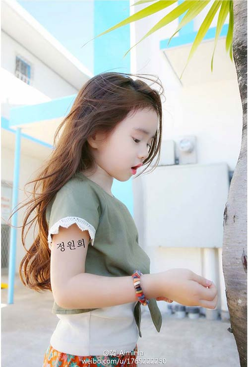 ...và nét đẹp thanh tú chính là sự bảo đảm cho mức độ nổi tiếng của cô bé trong tương lai.