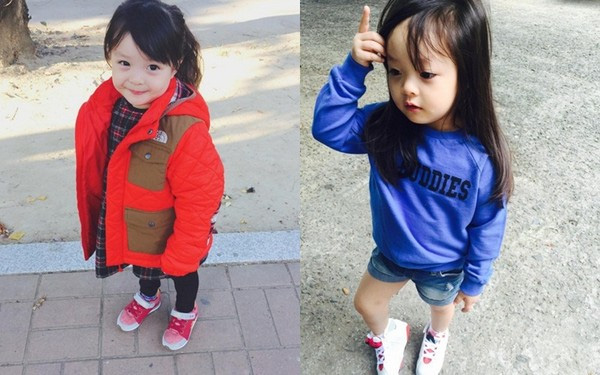 Jae-eun dù bé nhưng đã có phong cách thời trang ấn tượng.