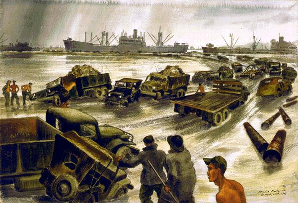 Luciano đã hỗ trợ cho cuộc đổ bộ của quân Đồng Minh vào đảo Sicily. Ảnh minh họa.