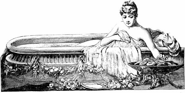 Hình ảnh một người phụ nữ phương Tây xưa đang... tắm trắng.