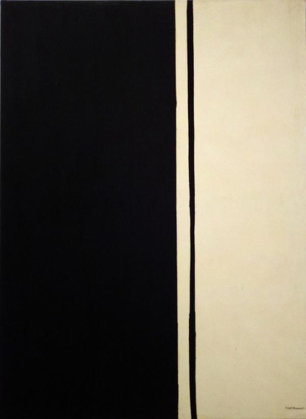 Các bức tranh của Newman đề cao sự tự do ngẫu hứng và góp phần tạo nên trào lưu Chủ nghĩa biểu hiện trừu tượng - một khuynh hướng nghệ thuật thời hậu Chiến tranh thế giới II diễn ra ở Mỹ. Trong ảnh là tác phẩm Black Fire I vẽ năm 1961, được nhà đấu giá Christie và bán với giá 84,2 triệu USD (1.871 tỉ VND) năm 2010.