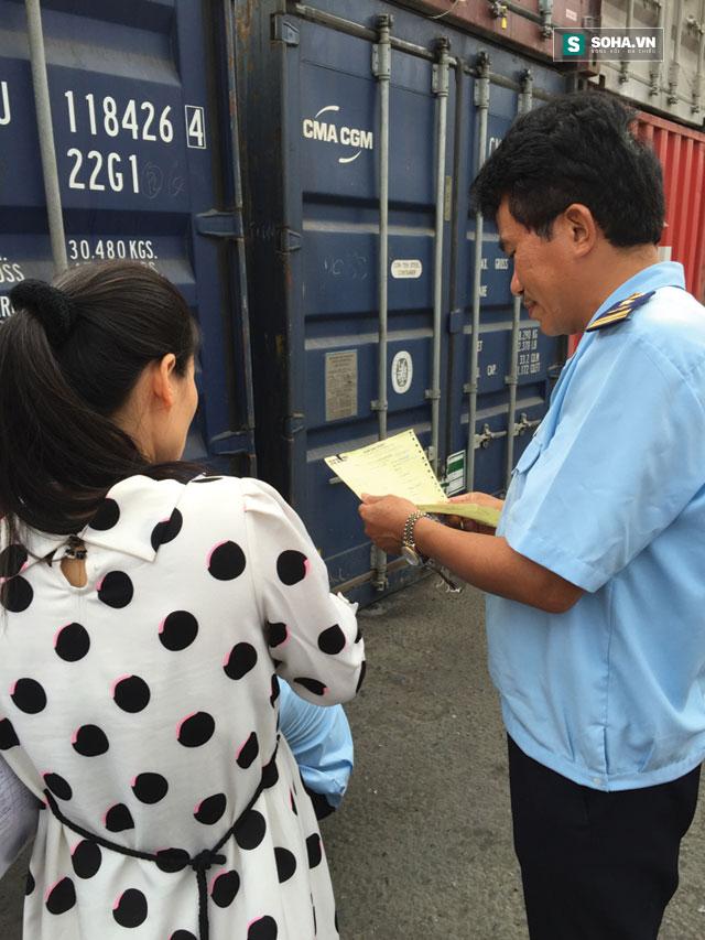 Ngay sau khi nhà báo Thu Trang đăng bài, Hải quan Hải Phòng đã vào cuộc kiểm tra. (Ảnh nhân vật cung cấp)