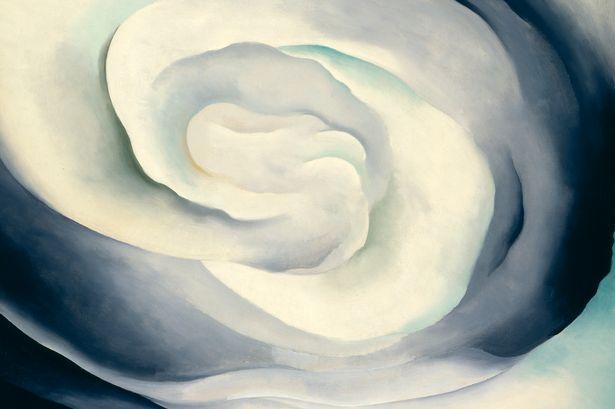 Bức tranh Hoa hồng trắng được vẽ vào năm 1927.