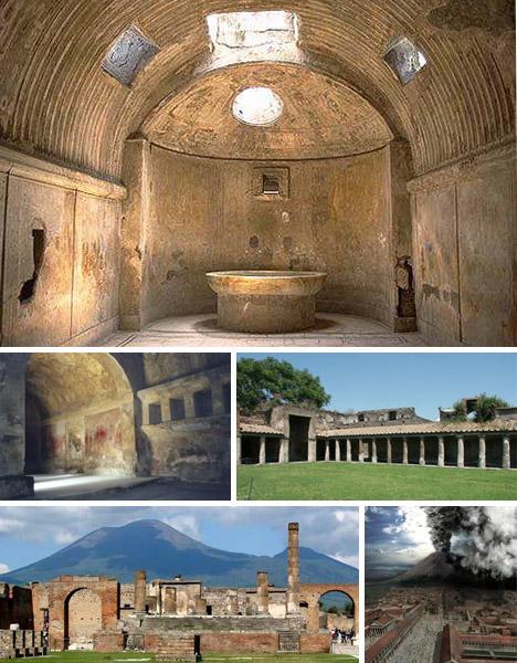 Kiến trúc nhà ở và nhà tắm của người La Mã cổ đại.