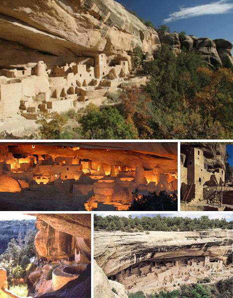 Khu vực định cư rộng lớn trên vách núi của người Mỹ bản địa từ xa xưa/