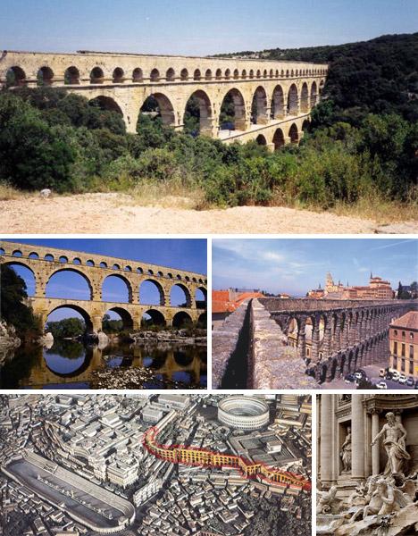 Cầu dẫn nước của người La Mã cổ đại.