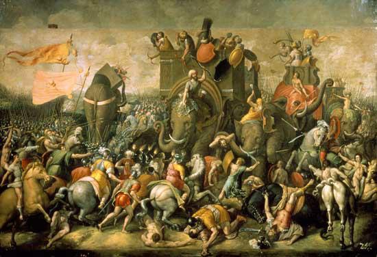 Quân Ba tư có sức mạnh nhờ vào quân đoàn voi lớn mạnh.