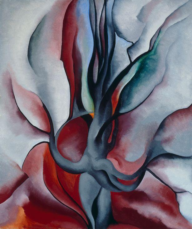 Bức tranh Cây phong mùa thu được vẽ trong năm 1924.
