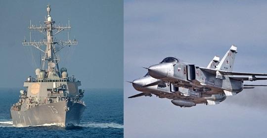USS Donald Cook từng có xảy ra vụ chạm trán tương tự với máy bay ném bom Su-24 của Nga.