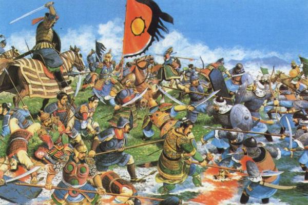Trận đánh Talas được mô tả trong sách lịch sử Trung Quốc. Ảnh: ikexue.org