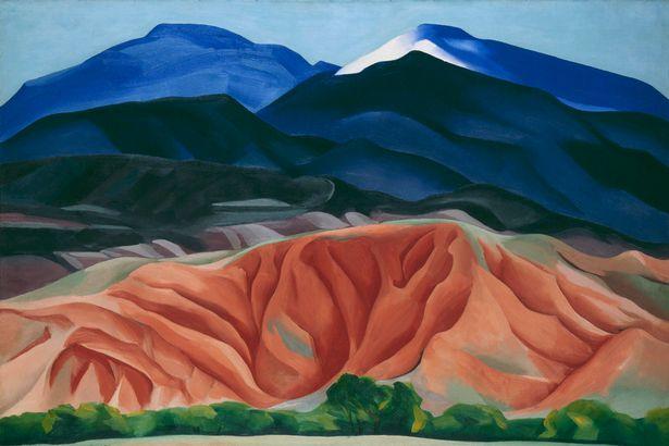 Bức tranh Núi đen được vẽ trong năm 1930.