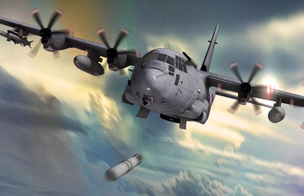 Pháo không phải là vũ khí duy nhất mà C-130 có thể mang theo. Tập đoàn Lockheed Martin từng thiết kế một phiên bản chống tàu chiến và tàu ngầm mang tên SC-130 Sea Herc. Máy bay được trang bị ngư lôi, tên lửa cùng hệ thống cảm biến tiên tiến.