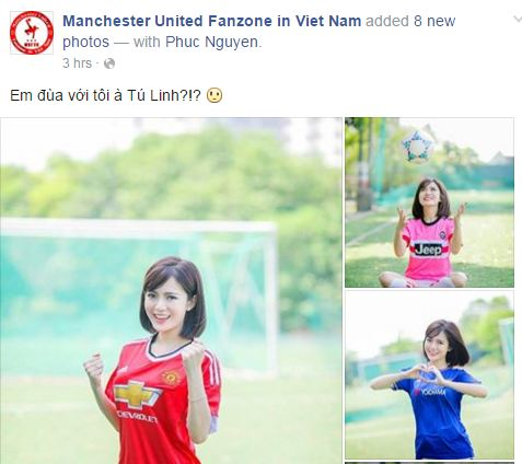 Ảnh chụp từ một fanpage Man United.