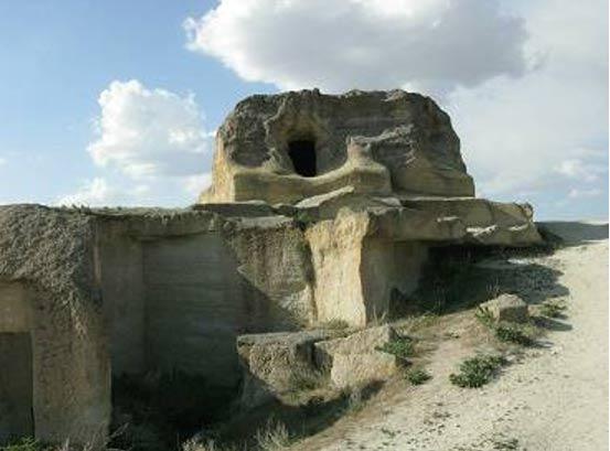 Tàn tích thành phố cổ Cappadocia ở Thổ Nhĩ Kỳ.