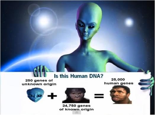 Con người đã lai tạo với người ngoài hành tinh