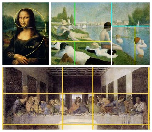 Tỉ số vàng mang lại vẻ đẹp cho nghệ thuật
