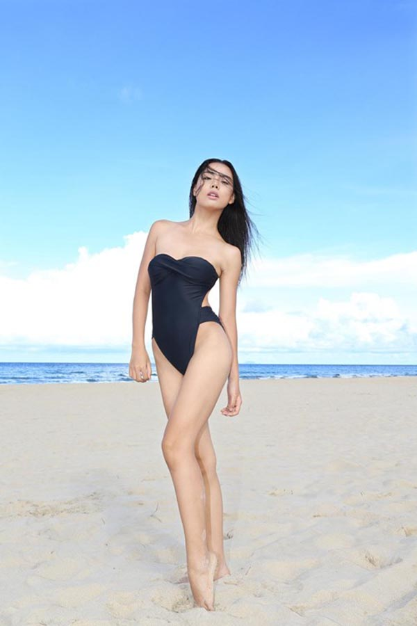 Không chỉ sở hữu gương mặt cá tính, Lại Thanh Hương còn có thế mạnh hình thể với chiều cao 1m72 cùng chỉ số 3 vòng chuẩn.