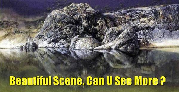 Bạn nhìn thấy gì ngoài bức tranh phong cảnh?
