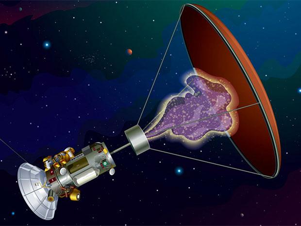 Mô hình tàu vũ trụ với động cơ phản vật chất.