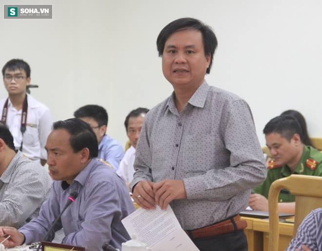Đại diện lãnh đạo tỉnh Quảng Trị thông tin vụ việc tại cuộc họp.