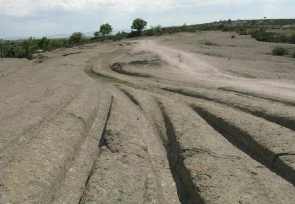 Những vết lún trong thung lũng Phrygian ở Thổ Nhĩ Kỳ.