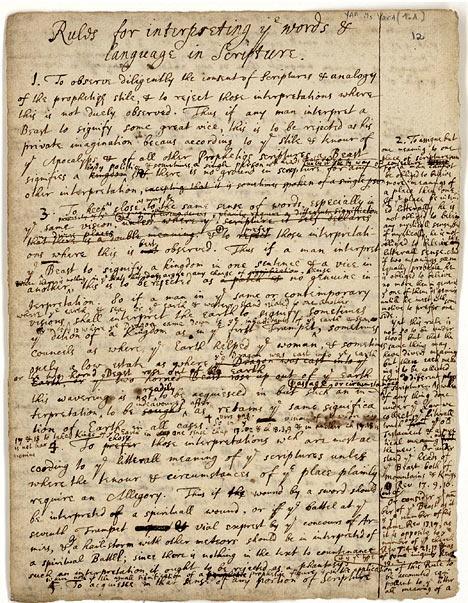 Tập bản thảo dày 4.500 trang viết năm 1704 của Newton...