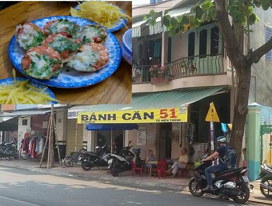 Chủ quán bánh căn 51 Tô Hiến Thành vừa bị đoàn kiểm tra liên ngành Nha Trang xử phạt 1 triệu đồng vì có nhiều vi phạm trong kinh doanh, an toàn vệ sinh thực phẩm.