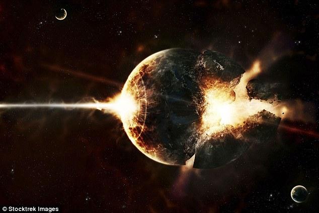 Vụ nổ này có thể quét sạch mọi sự sống trên Trái Đất. Hình minh họa